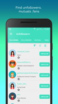 Unfollowers + for  Instagram poster
