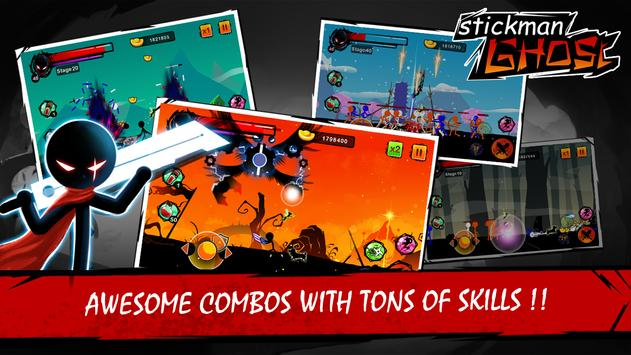 Stickman Ghost: Ninja Warrior Action Offline Game 포스터
