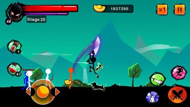 Stickman Ghost: Ninja Warrior Action Offline Game 스크린샷 16