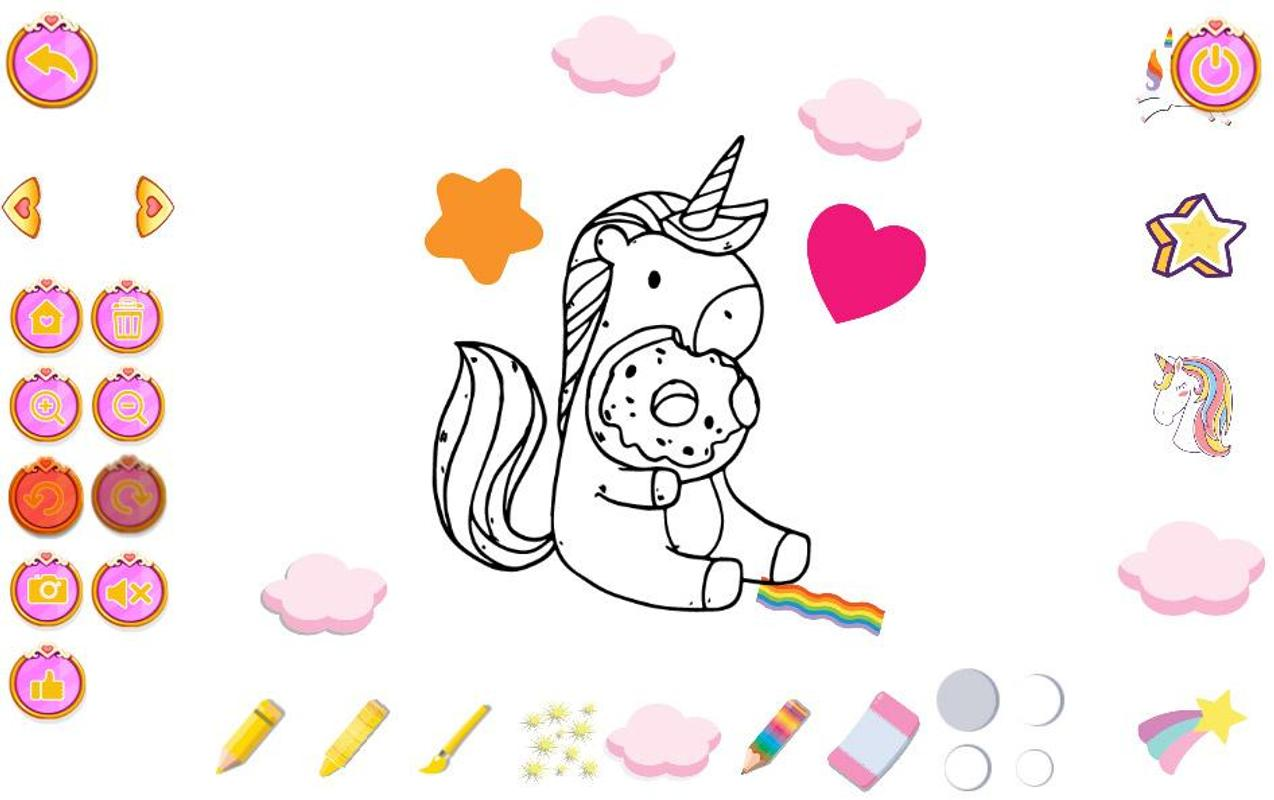 Unicorn coloring pages for kids تصوير الشاشة 12