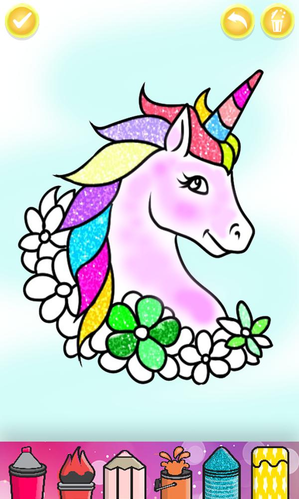 Glitter Unicorn Coloring Book Rainbow Drawing For Android Apk Download
