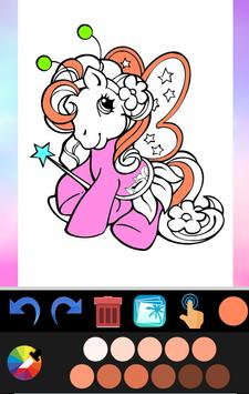 Unicorn coloring book game application poster
