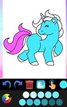 Unicorn coloring book game application screenshot 1