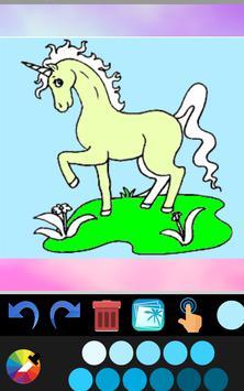 Unicorn coloring book game application screenshot 5