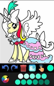 Unicorn coloring book game application screenshot 6