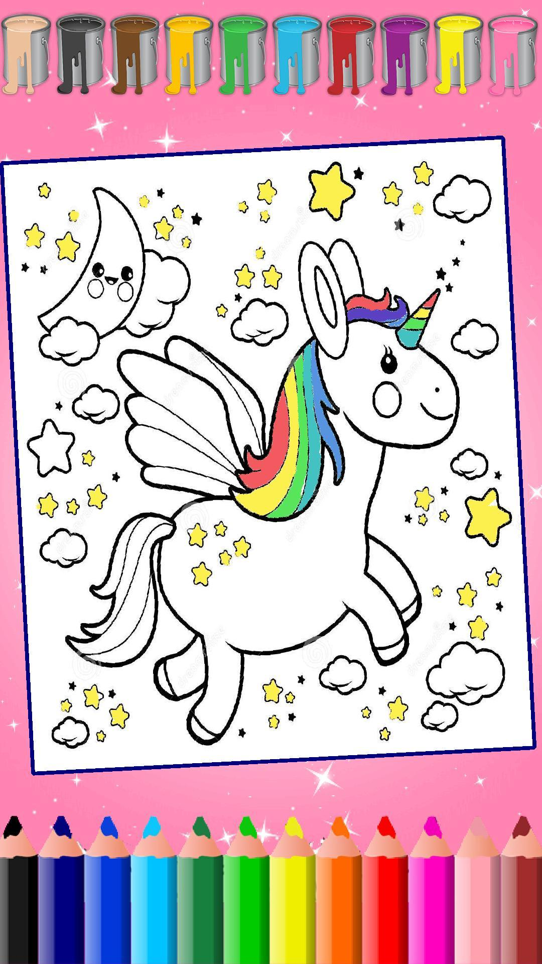 Cute Unicorn coloring page | Free Printable Coloring Pages | 1920x1080