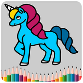 Unicorn Coloring Pages For Kids icon