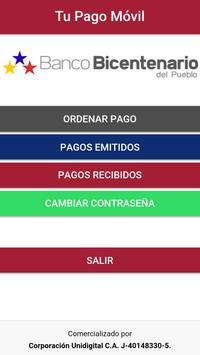Tu Pago Movil Banco Bicentenario screenshot 1