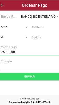 Tu Pago Movil Banco Bicentenario screenshot 2