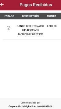 Tu Pago Movil Banco Bicentenario screenshot 4