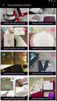 Unique Wedding Invitations poster