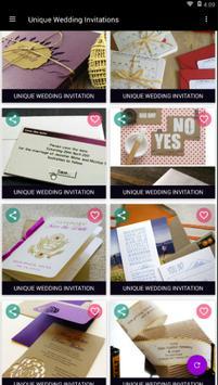 Unique Wedding Invitations screenshot 2