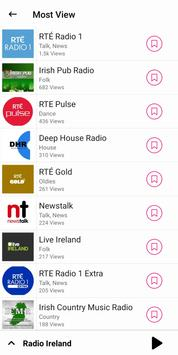 radio Ireland - Irish radio FM: rte player App imagem de tela 1
