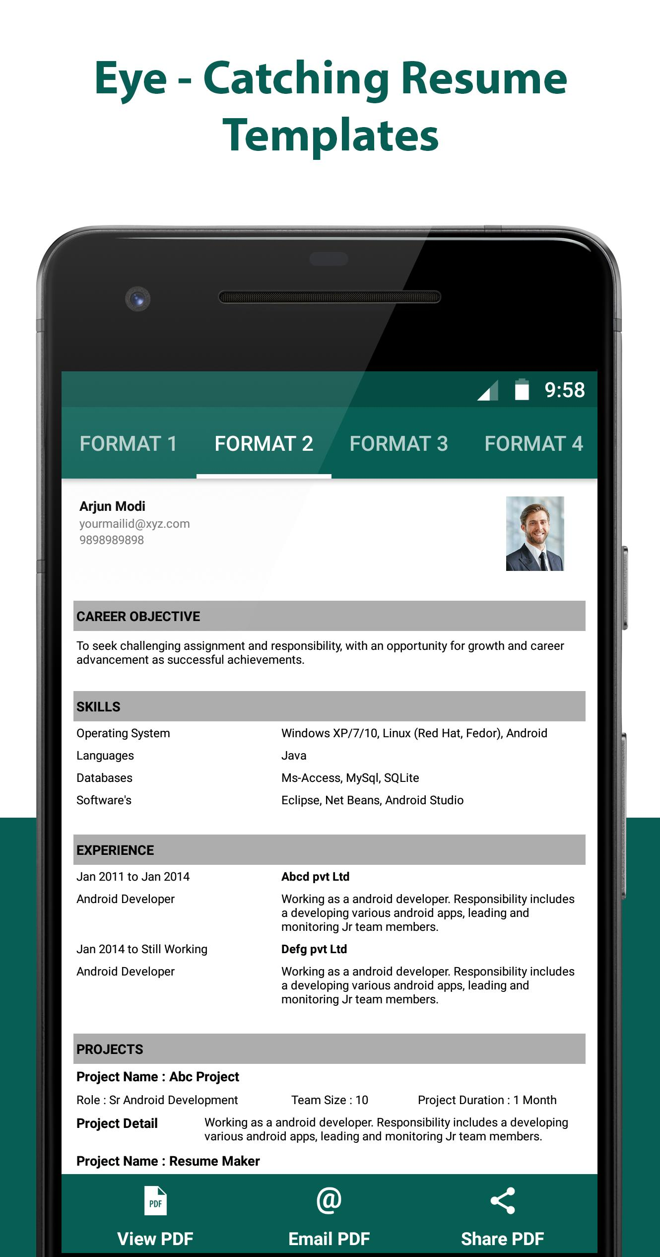 Resume Builder Resume Creator Free Cv Maker For Android Apk Download