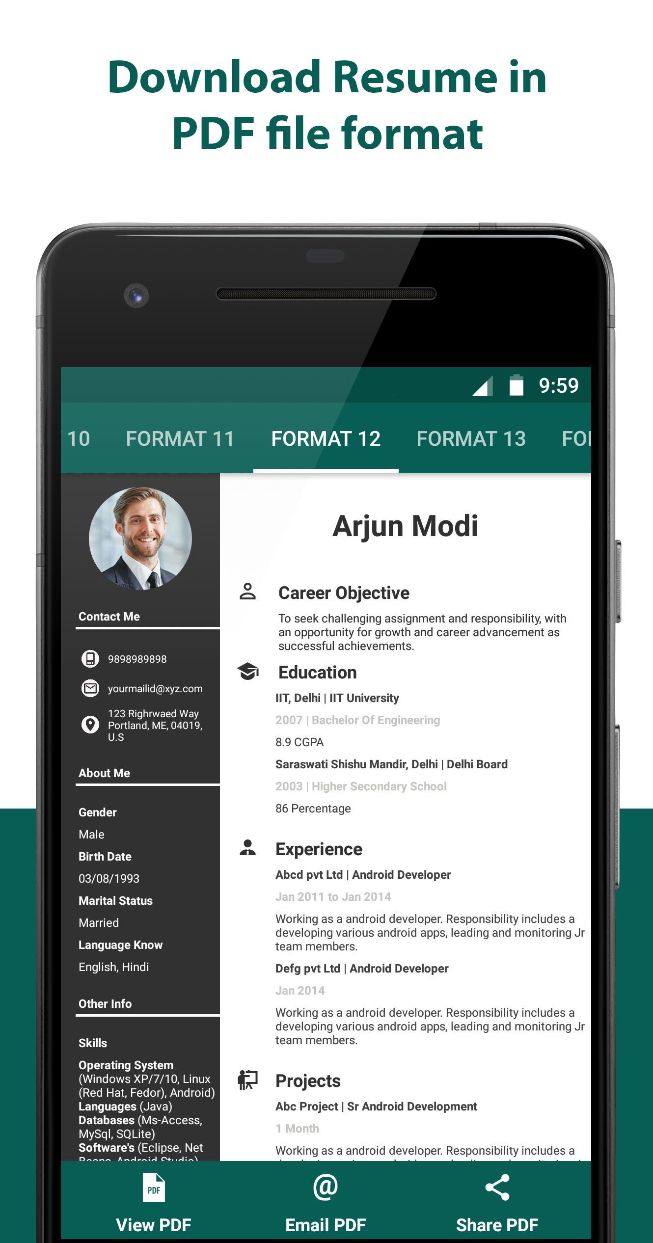 Resume Builder - Resume Creator Free CV Maker for Android ...