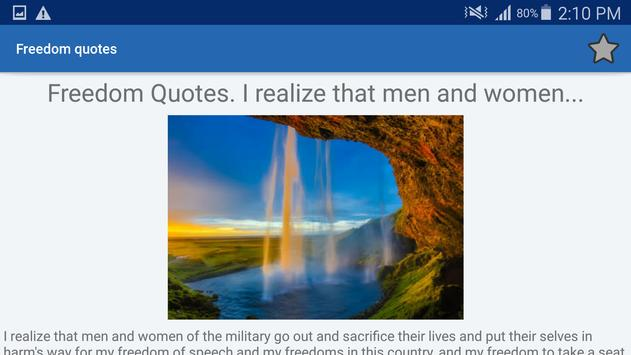 Freedom Quotes And Aphorisms screenshot 8