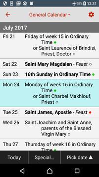 Catholic Calendar: Universalis الملصق