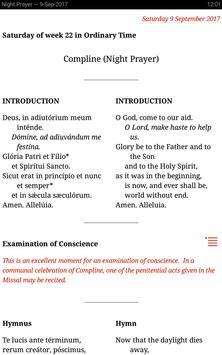 Catholic Calendar: Universalis تصوير الشاشة 8