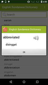 English Sundanese Dictionary screenshot 1