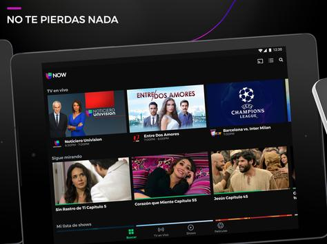 Univision NOW - TV en vivo y on demand en español screenshot 11