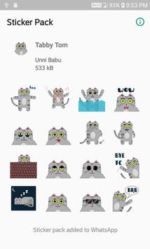 Tabby Tom Stickers screenshot 2