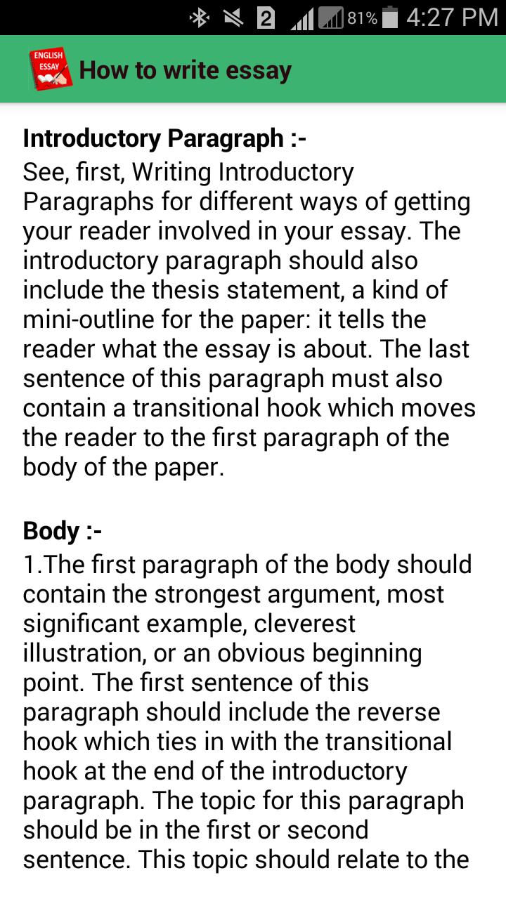 Essay On Dr Jekyll And Mr Hyde  Paraphrasing In Essays also Sydney Carton Essay English Essays For Android  Apk Download Abortion Opinion Essay
