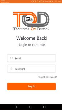 TOD User(Transport On Demand) poster