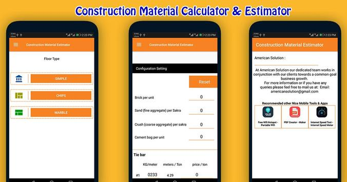 Construction Material Estimator screenshot 3