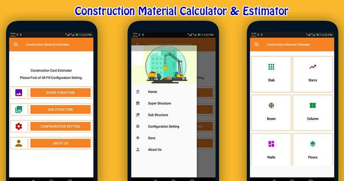 Construction Material Estimator poster