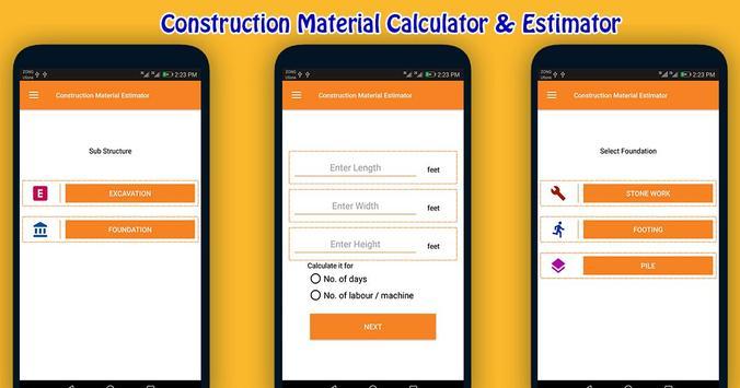 Construction Material Estimator screenshot 2