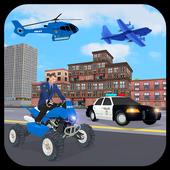 US Police Car Plane Transport Simulator icon