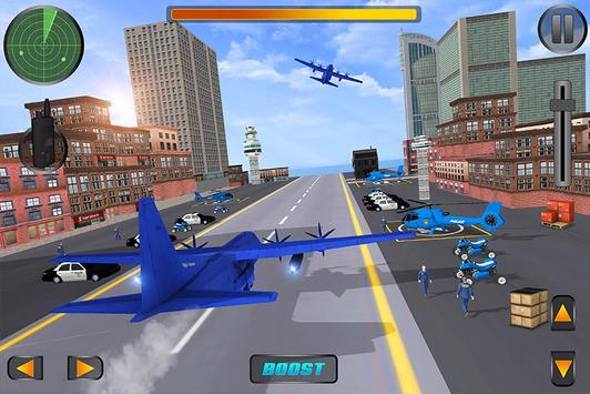 US Police Car Plane Transport Simulator screenshot 2