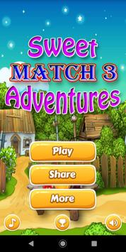 Sweet Adventures Match 3 poster