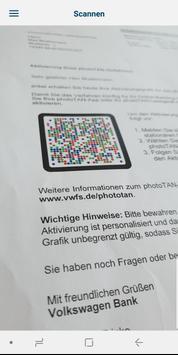 VW Financial Services photoTAN screenshot 1