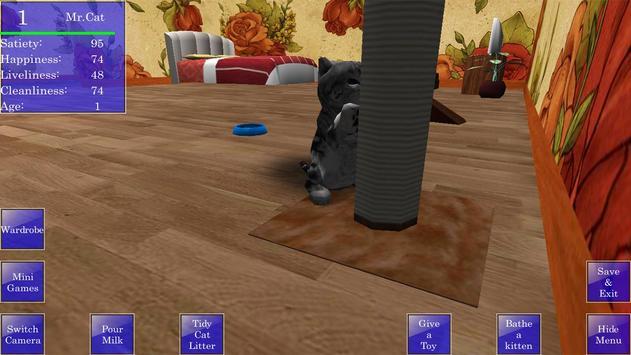 Cute Pocket Cat 3D screenshot 4