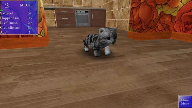 Cute Pocket Cat 3D screenshot 5