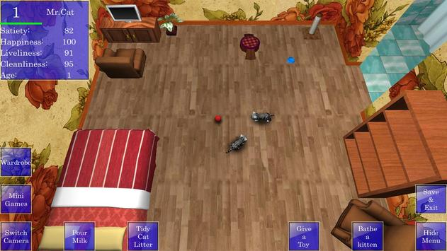 Cute Pocket Cat 3D screenshot 16