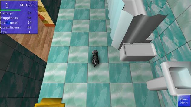 Cute Pocket Cat 3D screenshot 1
