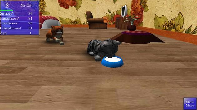 Cute Pocket Cat 3D screenshot 3