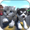 Cute Pocket Cat And Puppy 3D biểu tượng