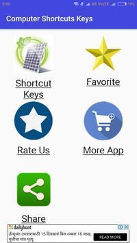 Computer Shortcuts Keys poster