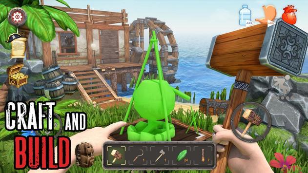 Survival Raft: Lost on Island - Simulator screenshot 1