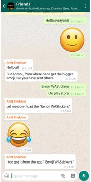Emoji WAStickers screenshot 1