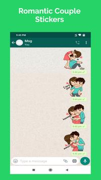 Romantic Couple Stickers - WhatsApp WAStickerApps poster