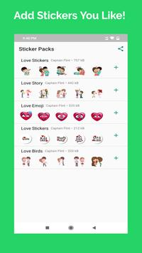 Romantic Couple Stickers - WhatsApp WAStickerApps screenshot 1