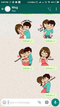 Romantic Couple Stickers - WhatsApp WAStickerApps screenshot 2