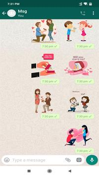 Romantic Couple Stickers - WhatsApp WAStickerApps screenshot 7