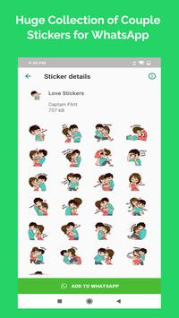 Romantic Couple Stickers - WhatsApp WAStickerApps screenshot 5