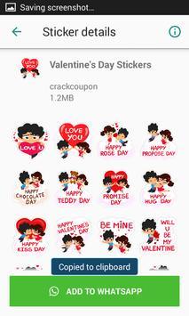 Valentine Day Stickers Pack For Whatsapp screenshot 2