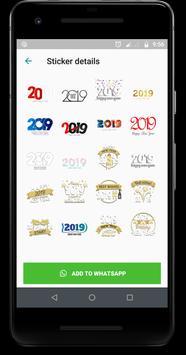 WAStickerApps : New Year Wish Sticker 2019 screenshot 1